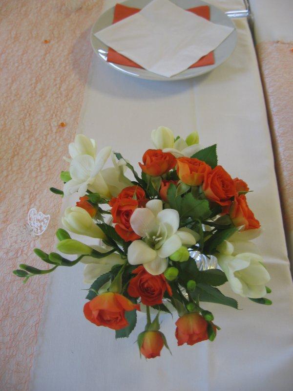 Svatba Bila Oranzova A Skoricova Dekorace Svatebniho Stolu